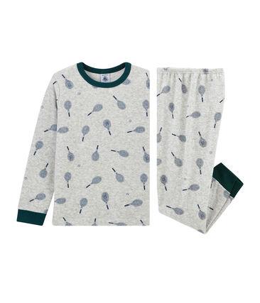 Pyjama petit garçon en bouclette éponge grattée
