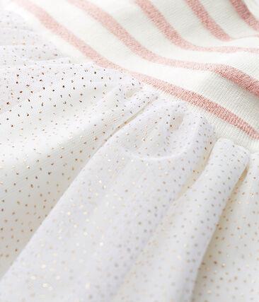 Robe sans manches bi-matière bébé fille