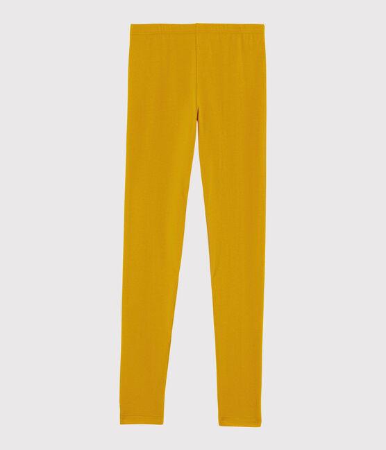 Legging en jersey enfant fille jaune Boudor