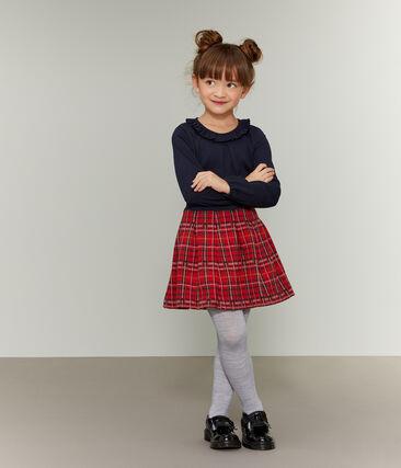Jupe enfant fille rouge Terkuit / blanc Multico