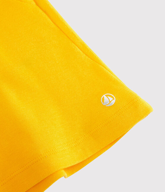 Short en coton enfant fille jaune Shine