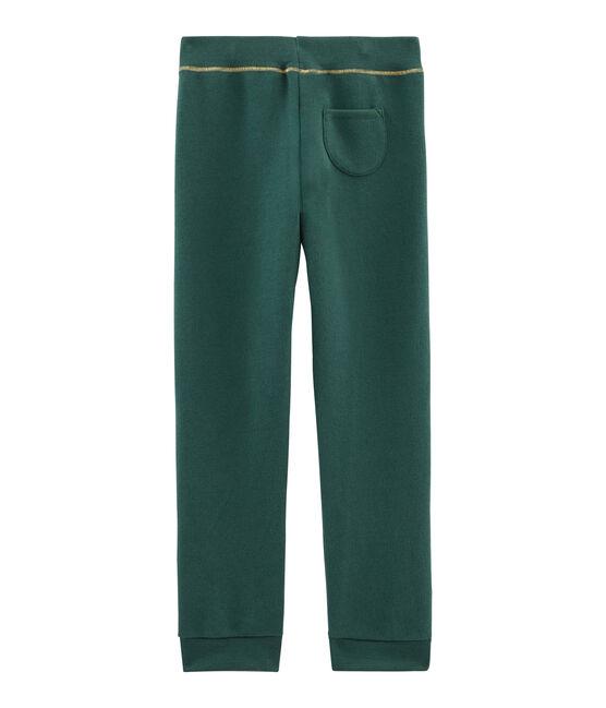 Pantalon molleton enfant fille vert Sousbois