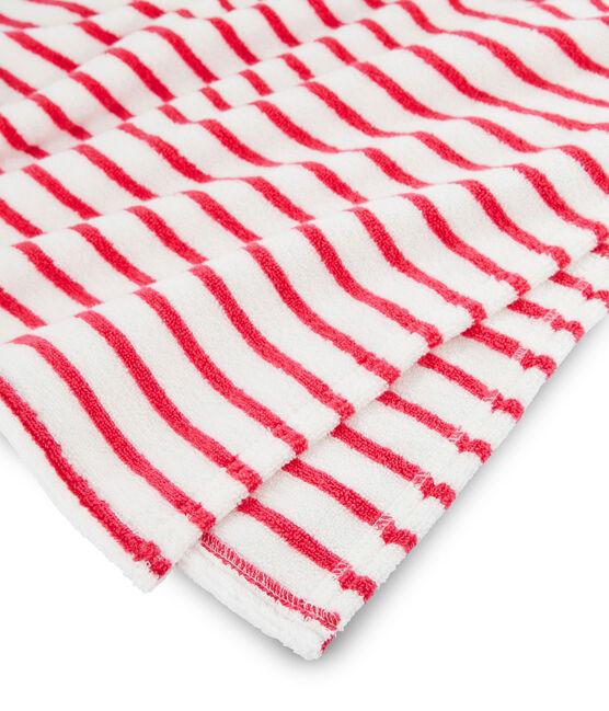 Poncho de plage à capuche bébé mixte rouge Geisha