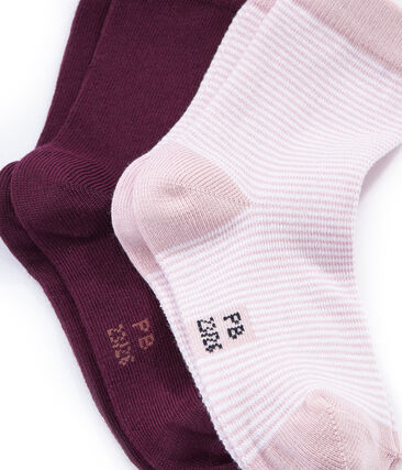 Lot de 2 chaussettes colorées et à motif rayé