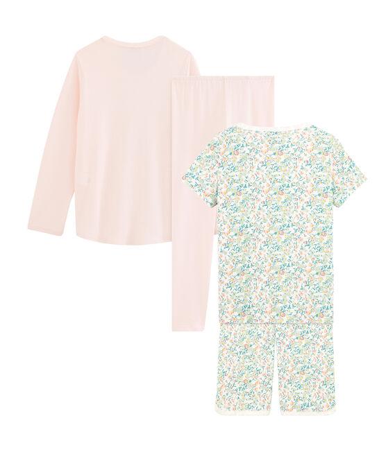 Duo pyjacourt et pyjama petite fille lot .