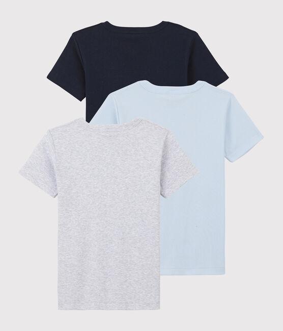 Lot de 3 tee-shirts manches courtes unis petit garçon en coton biologique lot .