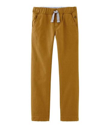 Pantalon doublé chaud enfant garçon blanc Marshmallow / bleu Crystal