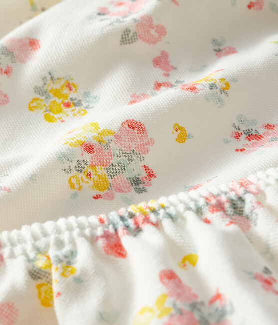 Robe et bloomer bébé fille imprimés blanc Marshmallow / blanc Multico