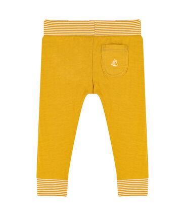 Pantalon bébé en tubique jaune Boudor