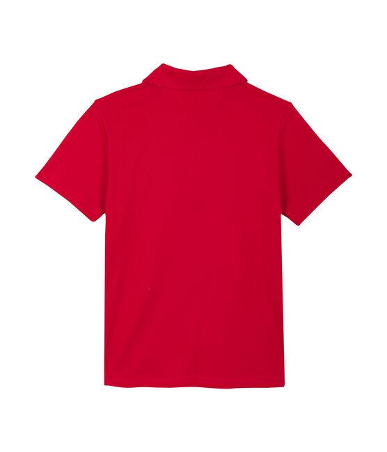 Polo enfant garçon rouge Terkuit