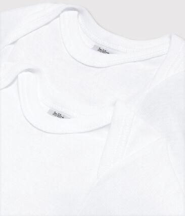Duo de bodies manches longues bébé garçon blanc Marshmallow
