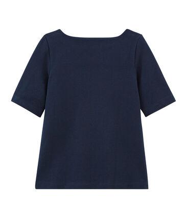 Tee-shirt manches 3/4 enfant fille bleu Smoking