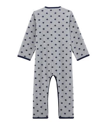 Combinaison petit garçon en polaire gris Subway / bleu Logo