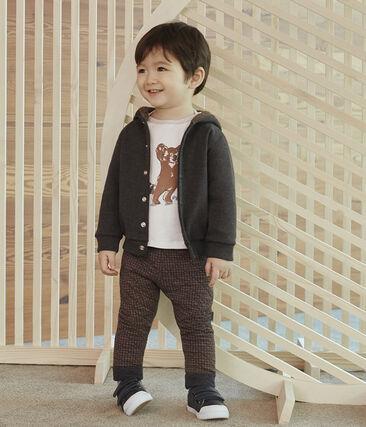 Pantalon bébé garçon en tubique pied-de-poule