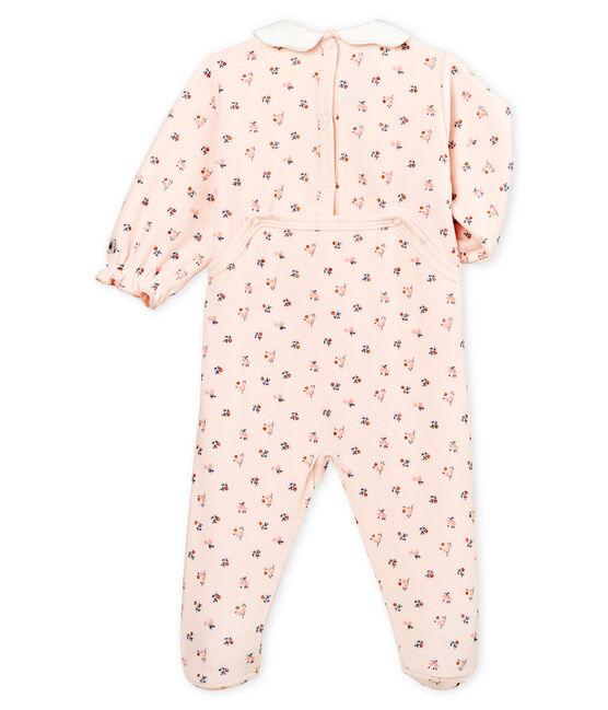 Dors bien bébé fille en velours rose Fleur / blanc Multico