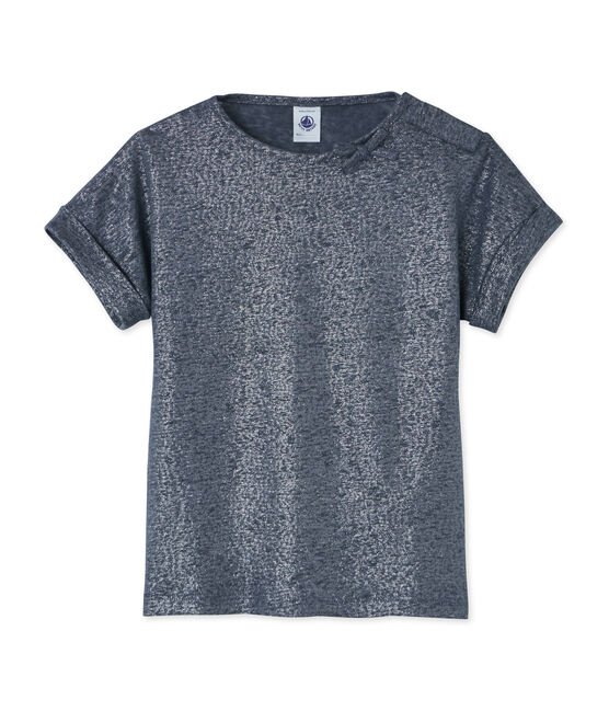 Tee-shirt enfant fille gris Maki / gris Argent