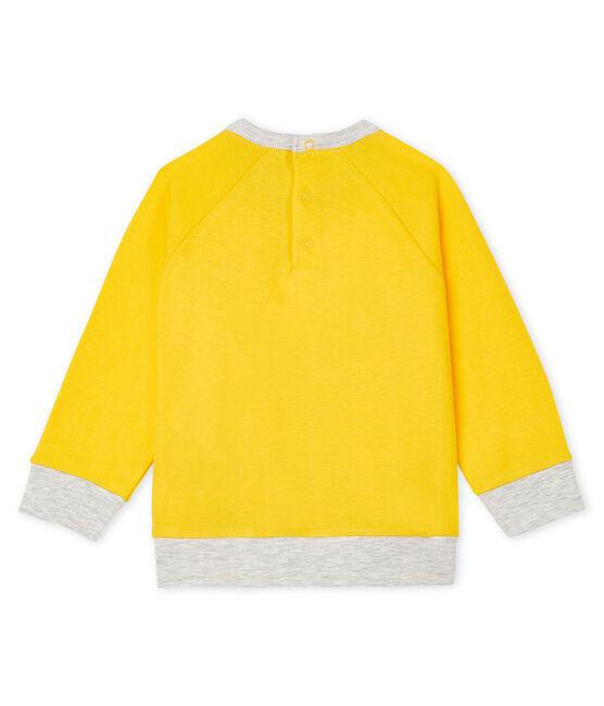Sweatshirt léger bébé garçon jaune Shine