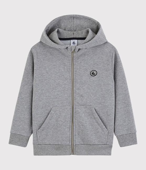Sweatshirt à capuche enfant garçon gris Subway