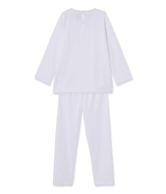 Pyjama fille à pois blanc Ecume