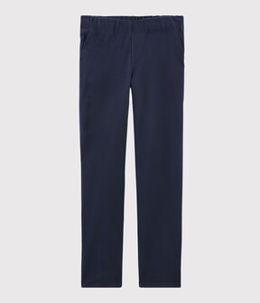Pantalon marine Femme bleu Smoking