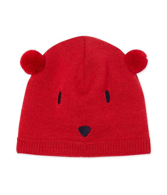 Bonnet bébé mixte rouge Froufrou