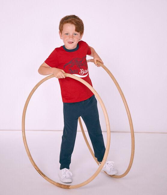 Tee-shirt enfant garçon à manches courtes rouge Terkuit