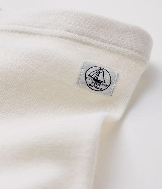Legging blanc bébé en laine et coton blanc Marshmallow