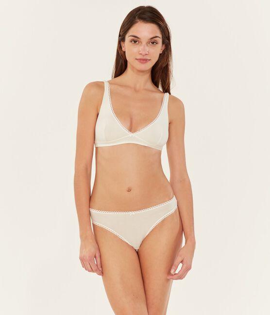 Soutien-gorge triangle femme blanc Marshmallow