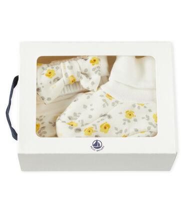 Lot bandeau et chaussons bébé fille en laine et coton
