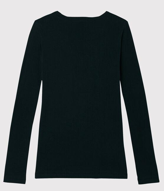 T-shirt iconique col V Femme noir Noir