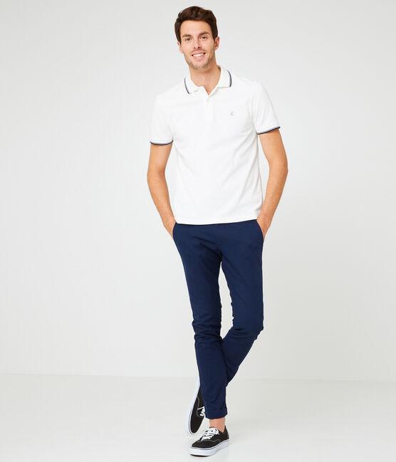 Polo manches courtes 100% coton jersey piqué. blanc Marshmallow