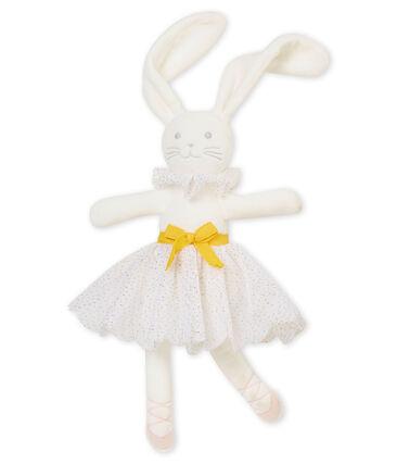 Doudou lapin danseuse blanc Marshmallow / jaune Dore