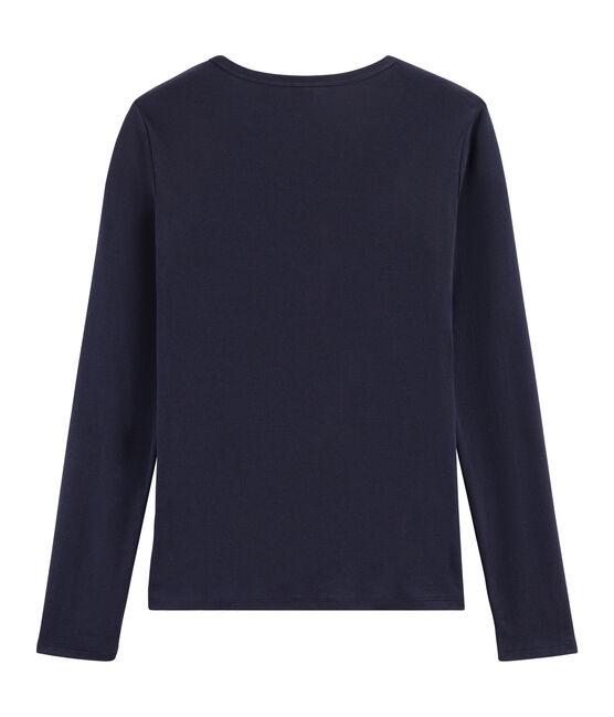 Tee shirt manches longues iconique femme bleu Smoking
