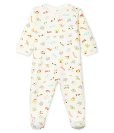 Dors bien bébé en molleton blanc Marshmallow / blanc Multico