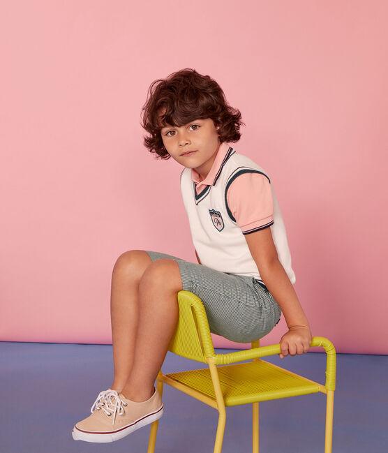 Pull sans manches enfant garçon blanc Marshmallow / blanc Multico