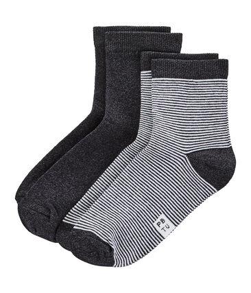 Lot chaussettes mi-hautes femme