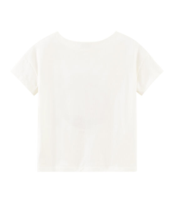 Tee-shirt manches courtes femme blanc Marshmallow