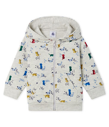 Sweatshirt à capuche bébé garçon en molleton imprimé
