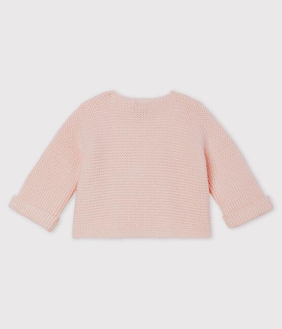 Cardigan bébé en tricot 100% coton FLEUR