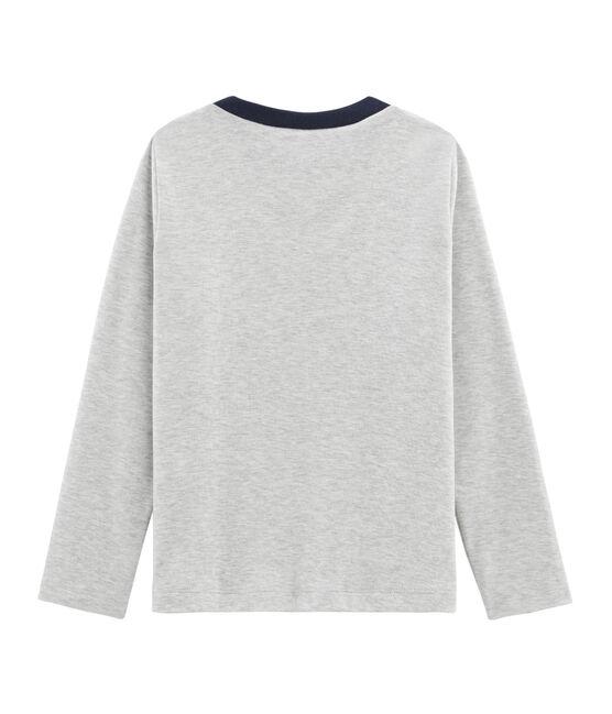 Tee-shirtsérigraphié manches longues enfant garçon gris Beluga