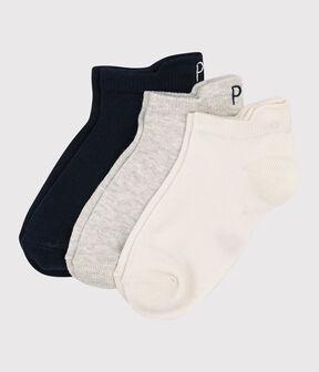 Lot de 3 paires de chaussettes basses enfant fille-garçon lot .