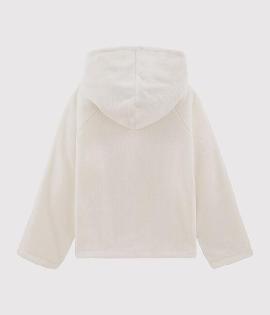 Sweatshirt à capuche enfant fille blanc Marshmallow