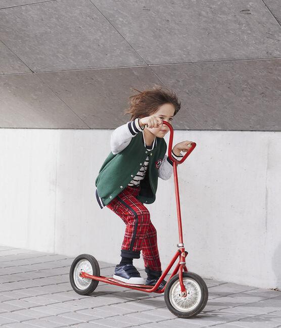 Pantalon maille tartan enfant garçon rouge Terkuit / bleu Smoking