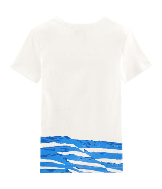 Tee shirt manches courtes blanc Marshmallow