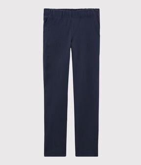 Pantalon en maille Femme bleu Smoking