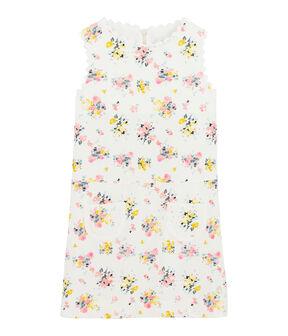 Robe de cérémonie enfant fille blanc Marshmallow / blanc Multico