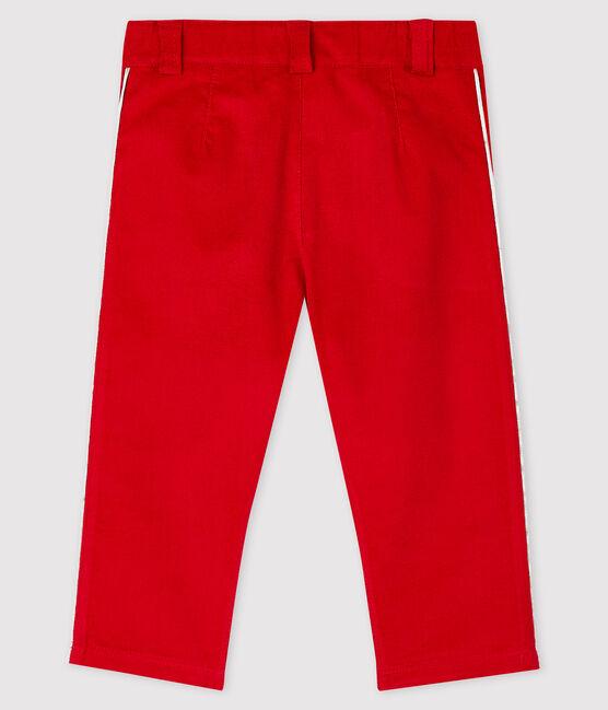 Pantalon en velours bébé. rouge Terkuit