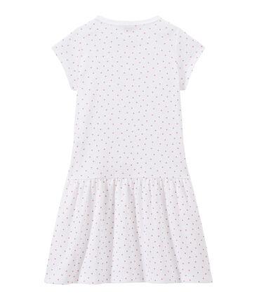Chemise de nuit fille imprimée cœurs blanc Ecume / rose Rose
