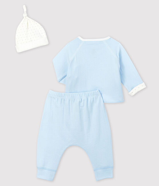 Ensemble cadeau bleu bébé garçon en tubique lot .