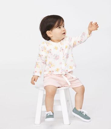 Short bébé fille - garçon en maille rose Minois